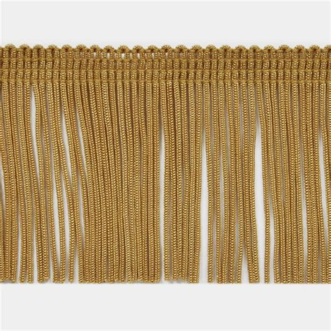 upholstery fabric trim 2 quot chainette fringe trim gold discount designer fabric