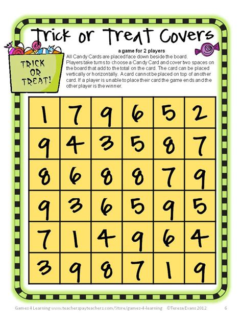 printable maths board games year 1 fun games 4 learning halloween math fun