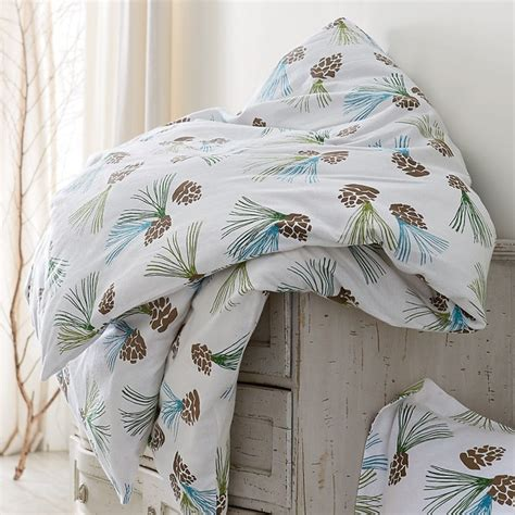 pinecone bedding pinecone flannel sheets bedding set contemporary
