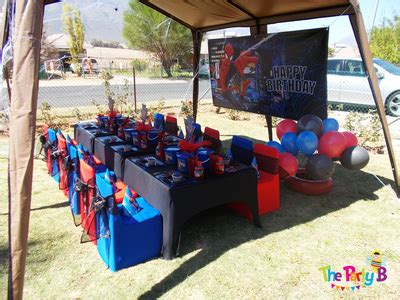 themed party equipment hire spiderman themed party cape town the party b kids