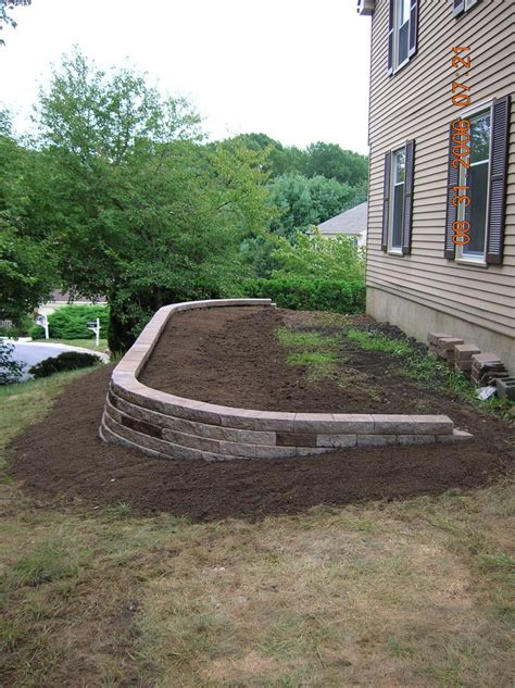 retaining wall flower bed andrew vilcheck large retaining walls driveways with