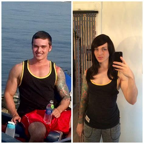 mtf body transformation body comparison after 2 month on hrt transgender