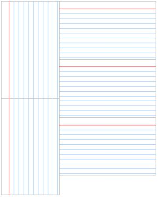 9 best images of printable index cards with lines
