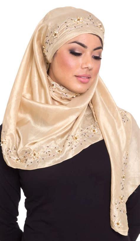 ways  stylize beaded hijab  scarfs hijabiworld