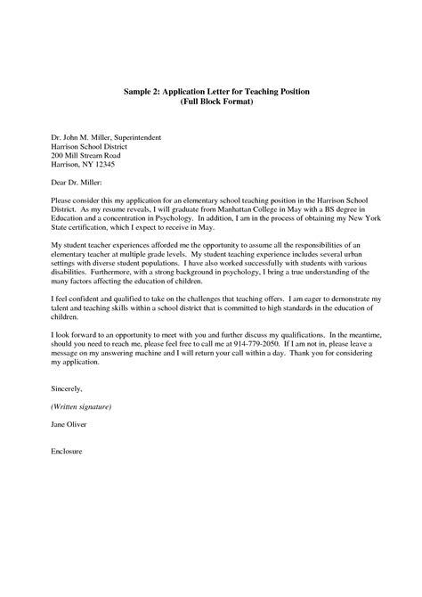 application letter format  write job sample  headteacher teacher cover classroom