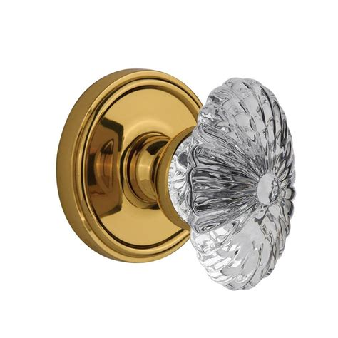 bed knobs baldwin filmore polished brass bed bath crystal knob 5080