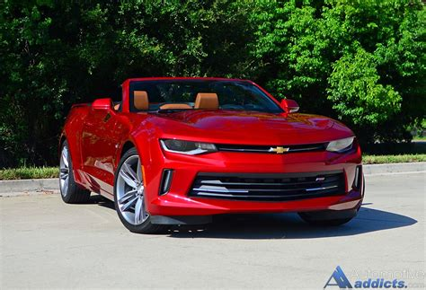 chevrolet camaro lt rs  convertible review test