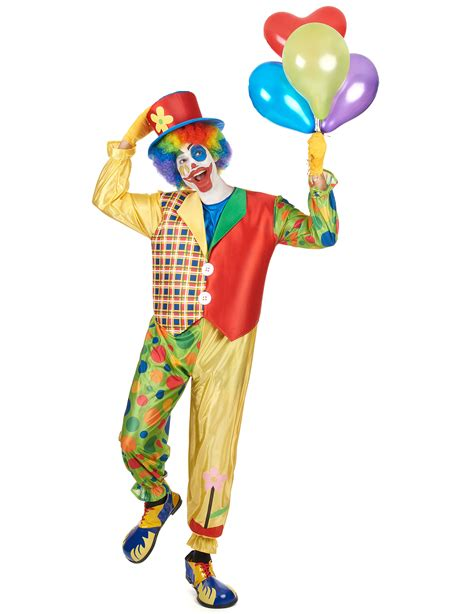 colorful clown costume  adults vegaoo