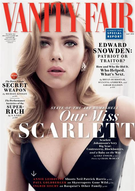 Vanity Fair Us by Beautiful American Johansson Modeling For