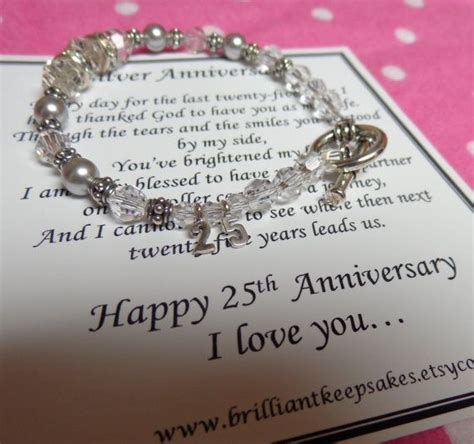 25th wedding silver anniversary gift for sterling silver silver anniversary gifts silver