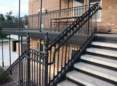balcony railing cast iron railings gates and fencing