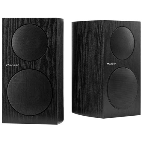 pioneer bass reflex bookshelf speakers sp bs21 lr b h photo