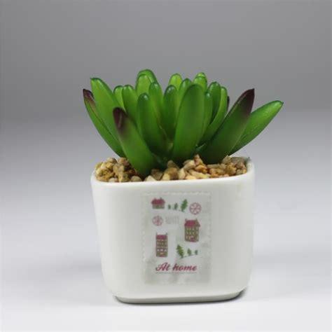 Vas Bunga Keramik Putih jual vas bunga keramik kaktus hijau kecil pot bunga