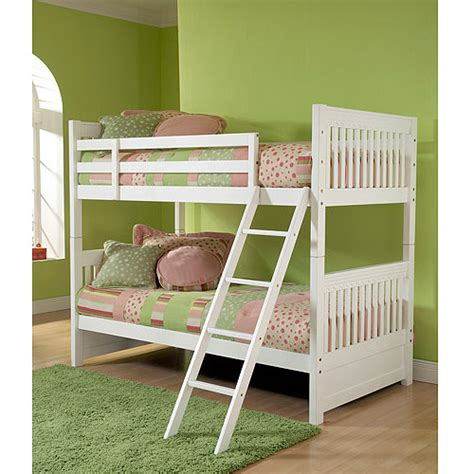 walmart white bunk beds lauren twin over twin bunk bed white walmart com