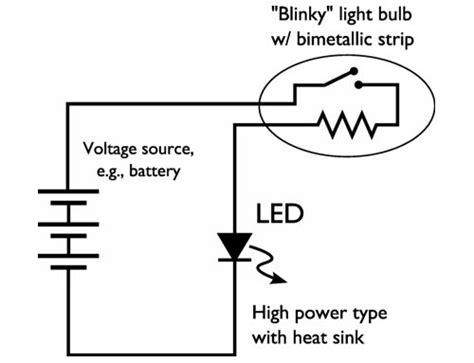Easy High Power Led Blinking Circuit Evil Mad Scientist How To Make Led Lights Blink