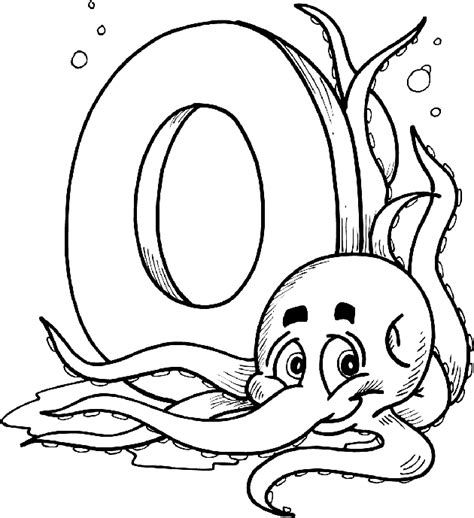 Letter 0 Coloring Pages by Letter 0 Coloring Pages Only Coloring Pages