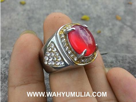 Batu Akik Sulaiman Darah 2 batu cincin carnelian akik darah kode 346 wahyu mulia