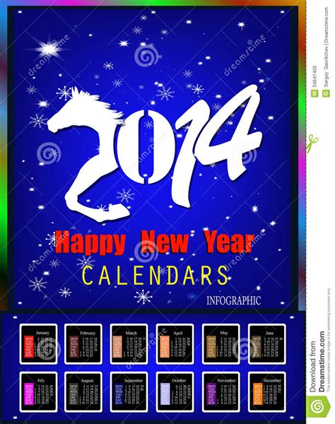 creative happy new year 2014 creative happy new year 2014 royalty free stock photo