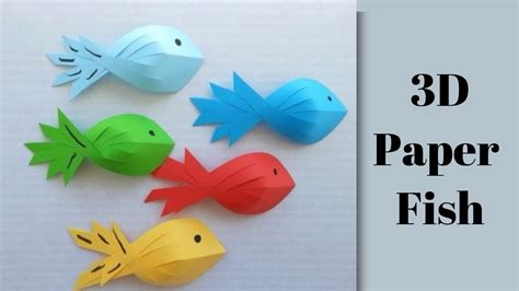 How To Make 3d Fish Out Of Paper - how to make 3d fish out of paper
