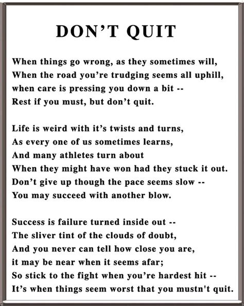 why dont you stop don t quit no matter what happens