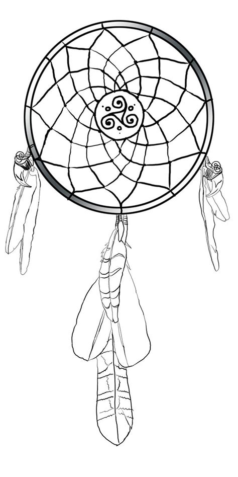dreamcatcher tattoo black and white celtic dreamcatcher black and white by jennokami on deviantart