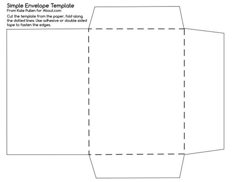 Handmade Envelope Template - free printable here s a simple envelope template to