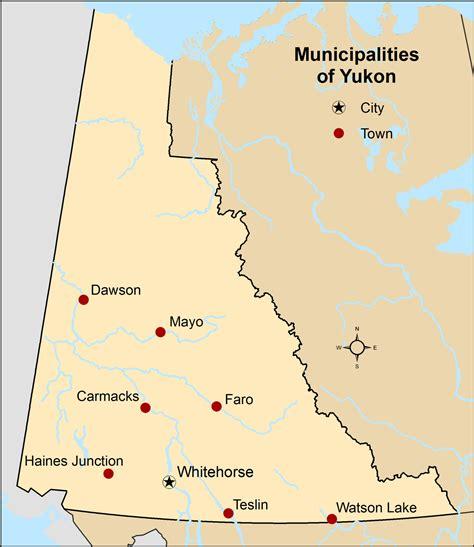yukon map list of communities in yukon
