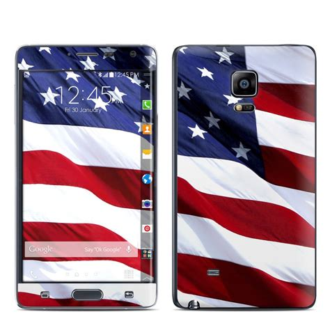 note edge wallpaper flags samsung galaxy note edge skin patriotic by flags decalgirl