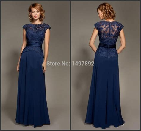 Ivj Dress royal blue bridesmaid dress 2015 new fashion scoop neck cap sleeve lace dress for