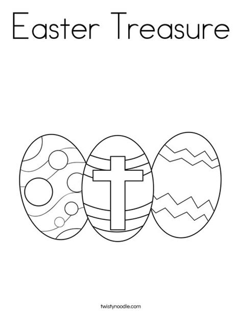coloring pictures of easter cross easter treasure coloring page twisty noodle