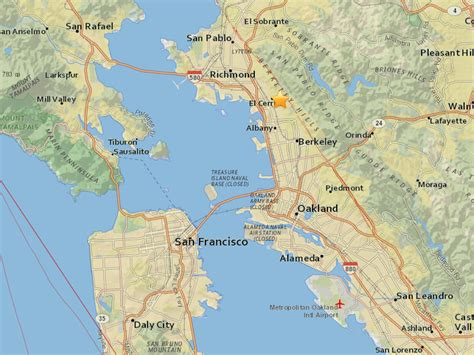 san francisco map berkeley berkeley based earthquake rattles san francisco and