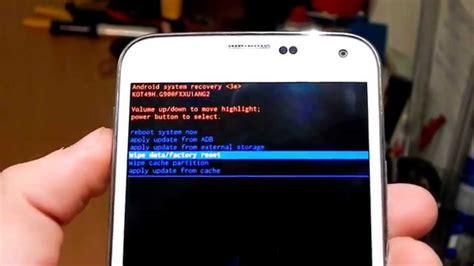 reset a samsung galaxy s5 samsung galaxy s5 forgot password factory reset boot menu