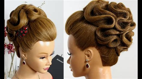 bridal hairstyle for hair tutorial wedding prom updo