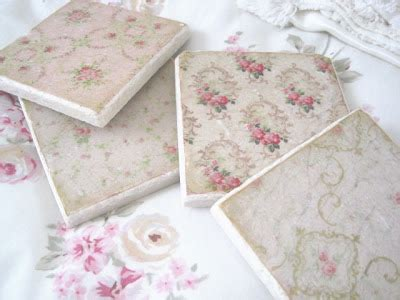 the porcelain rose so shabby chic tile coasters
