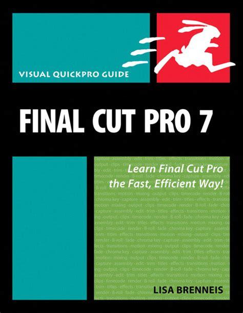 final cut pro education pearson education final cut pro 7