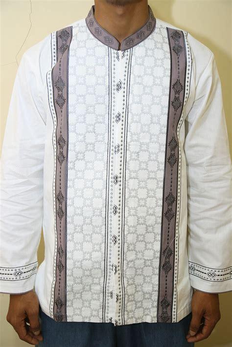 Baju Koko Bordir Az02 Putih Kemeja Muslim kemeja koko kemeja koko elegan kemeja koko bordir kemeja koko lengan panjang baju muslim