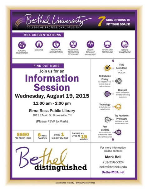 Bethel Tn Mba Program by Bethel Graduate Programs Tn Paymentfilecloud