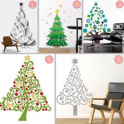 Christmas Tree Wall Stickers Fabric Christmas Tree Wall Stickers