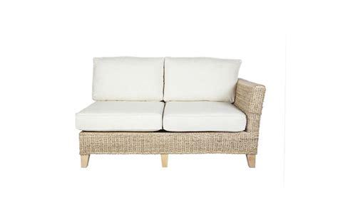 pebble wicker rattan conservatory furniture sofa left arm