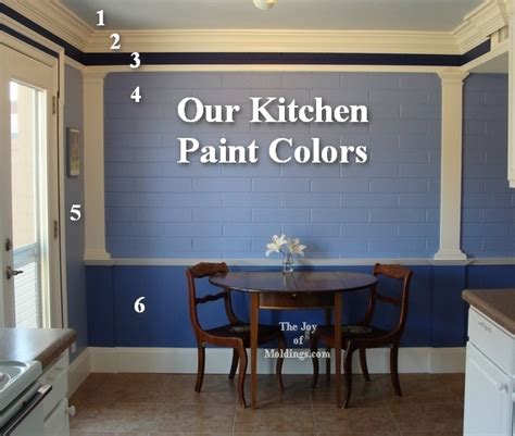 how to paint a kitchen blue and white the of moldings