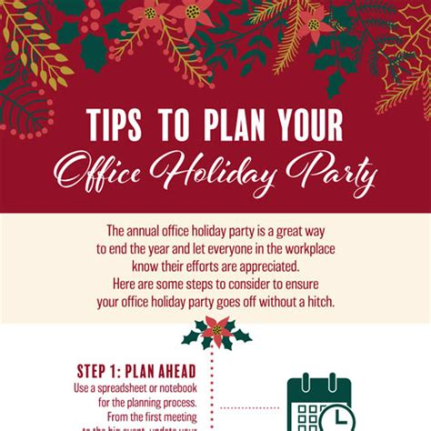 steps to planning office party tips to plan your office infographicbee