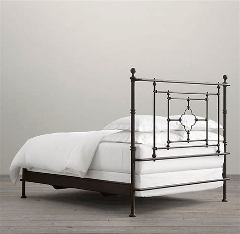 Beds Without Footboards by 19th C Quatrefoil Iron Bed Without Footboard Inside