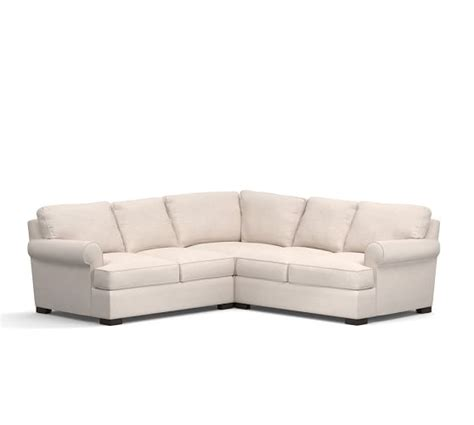 townsend sectional townsend upholstered 3 piece l shape sectional with corner