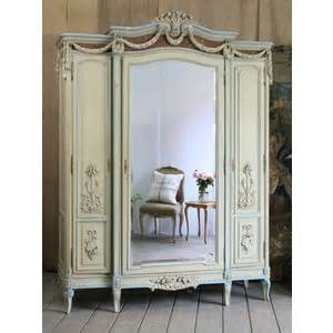 antique mirrored armoire in and aqua