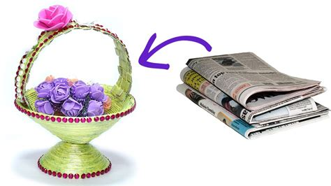 What Can We Make With Waste Paper - how to make diy newspaper basket best out of waste paper