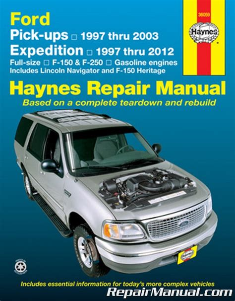 haynes ford pickup 1997 2003 expedition lincoln navigator 1997 2012 repair manual
