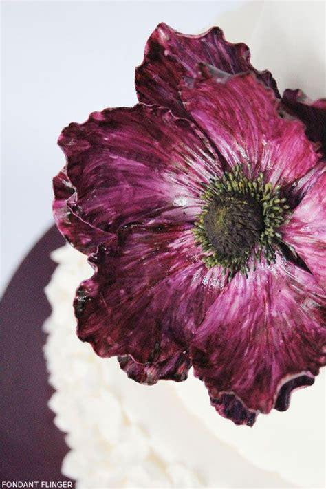 anemone edible purple anemone cake gumpast anemone poppy pinterest