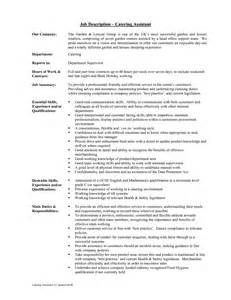 Catering Assistant Sle Resume by 43 Creative Catering Sales Manager Resume Sles For Seekers Vntask