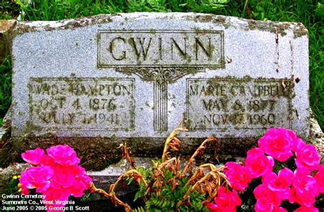 Wv Vital Records West Virginia Cemetery Preservation Association Gwinn Cemetery Summers Co A K A