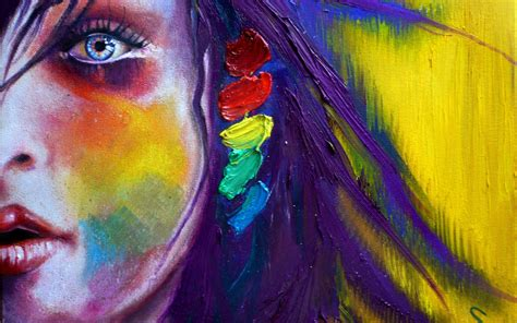 wallpaper colorful portrait download women paintings wallpaper 2560x1600 wallpoper